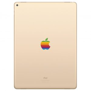 iPad Pro 10.5 inch Retro Rainbow Apple Logo Decal Sticker