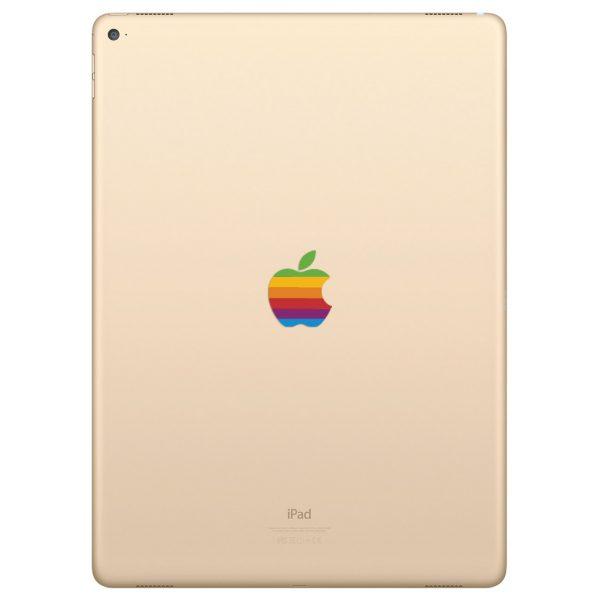 iPad Pro 10.5 inch Retro Rainbow Apple Logo Decal Sticker