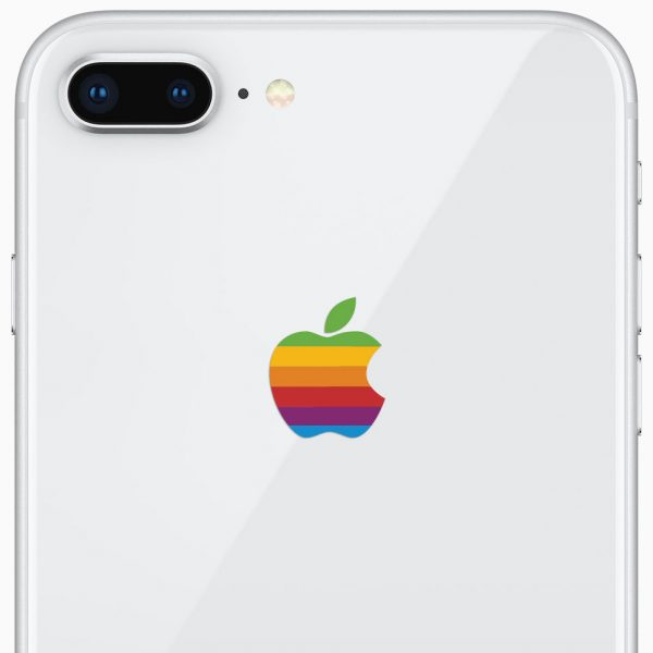 iPhone 8 Plus Retro Apple Logo
